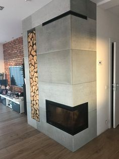 Home Fireplace, Living Room With Fireplace, Fireplace Design, Japanese Home Decor, Japanese House, Baby Room Neutral, Inside Home, Timber Flooring, My New Room