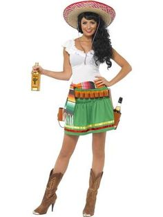 Adult Tequila Shooter Shot Girl Mexican Mexico Fancy Dress Costume Ladies  Womens Roupa Mexicana Feminina c5b94c0f4b1