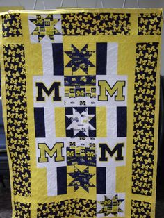 U of M quilt designed by me for a friend's wedding gift