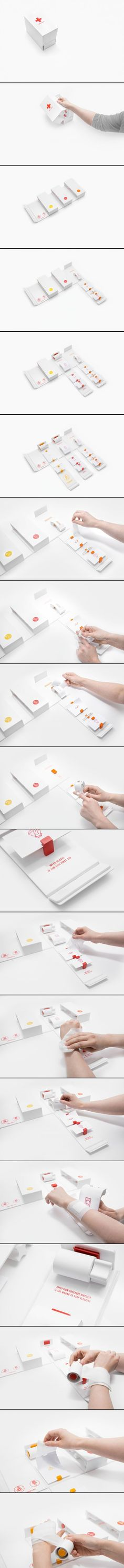 DIY First Aid Kit packaging by Gabriele Meldaikyte Clever Packaging, Brand Packaging, Medical Packaging, Packaging Design Inspiration, Graphic Design Inspiration, Diy First Aid Kit, Creative Design, Branding Design, Amazing
