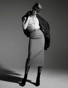 Edie Campbell by Inez & Vinoodh for Vogue Paris February 2016 - Miu Miu Spring 2016