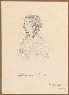 Alexandra dated 24 Nov 1862 by Queen Victoria, Queen of the United Kingdom (1819-1901)
