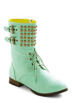 (want to wear this with the minimalist dress and bright red lipstick) Dream Come Julep Boot, #ModCloth