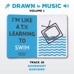 Drawn to Music - Volume 1 : Track 16 - Goodnight by Babybird #sketchbookproject2017 #drawntomusic #volume1 #S164511 #halfandhalf #blackwhiteandblue #goodnight #babybird