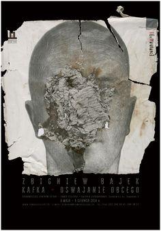 """Plakat do wystawy""""Kafka-oswajanie obcego"""""""
