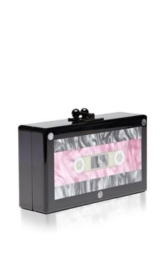 Jean Cassette Perspex Clutch by Edie Parker - Moda Operandi Land Of Misfit Toys, Window Shopper, Novelty Bags, Jeweled Shoes, Cool Gear, Cosmetic Case, Leather Accessories, Colorful Fashion, Swagg