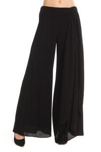 Pantalones anchos de gasa de Derhy. Color único. 4757ba8069d