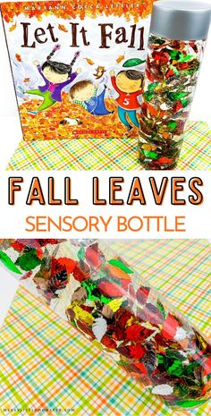 Fall sensory bottles for toddlers.
