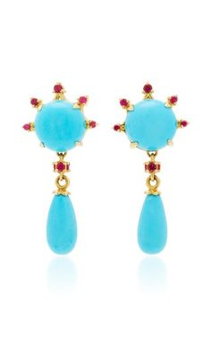 Turquoise Drop Earrings by Paul Morelli
