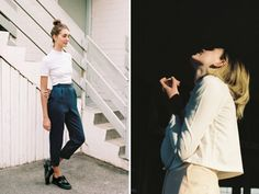 High waists and bucket bags and buttons, oh my!