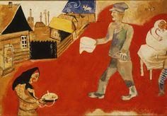 Marc Chagall (1887-1985, France) | Purim, 1916-17 (Filadelfia, Philadelphia Museum of Art)