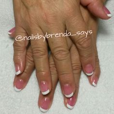 Pink and white liquid hard gel