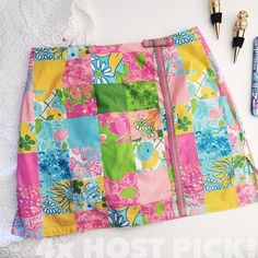 LILLY PULITZER Rainbow Patch Skort lilly pulitzer rainbow patch skort  don't sacrifice style for comfort - just wear a skort! mid-thigh skort in rainbow patch pattern. built-in solid short offers a comfortable, secure fit  ⠀† size 0 ⠀† back zipper closure ⠀† 97% cotton, 3% spandex ⠀† preowned  host pick!   ⠀4.2.16 › pretty, flirty & girly ⠀5.28.16 › weekend wardrobe  ⠀5.30.16 › style staples ⠀6.20.16 › summer staples   shipping ⠀currently out of town. orders placed between  ⠀july 6 - july…