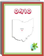 Thematic Unit - Ohio - Each state thematic unit is 13 pages. They offer information about the following: history, Capital, flag, tree, bird, flower, size, location, climate, topography, industry, natural resources, waterways  The following pages are also included: questions, word unscramble, spelling, state map, add your own information, answers