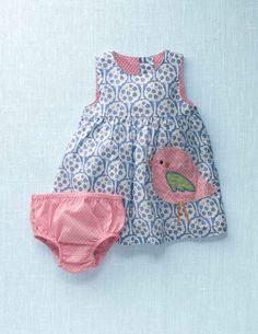 Printed Appliqué Dress.  Little girl clothes are sooo cute!