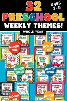 Preschool Weekly Themes, Homeschool Preschool Curriculum, Preschool Rooms, Preschool Learning Activities, Preschool At Home, Fun Learning, Preschool Teachers, Interactive Activities, Daycare Themes