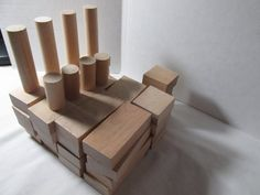 Montgomery Schoolhouse bag of wooden blocks by FredsDiscoveries