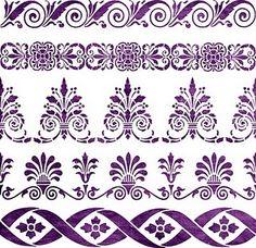 Decorative Stencil 5 Borders Victorian Style