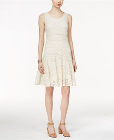 Style & Co. Lace-Godet Sleeveless Dress, Only at Macy's
