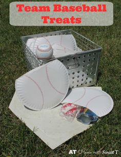 Team Baseball Treats packages to serve to your little league baseball team after the game.