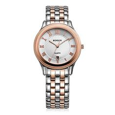Binlun BL0054R Mens 2 Toned Japanese Quartz Movement Watch with Date Case 36 * Check this awesome product by going to the link at the image.