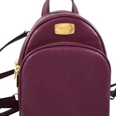 8d689955166b Michael Kors Extra Small Abbey Plum Leather Backpack - Tradesy Leather  Backpack, Fashion Backpack,