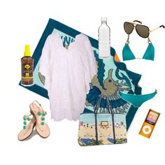 Pack your beach bag, created by #ccwbadtz on #polyvore. #fashion #style lisa brown caffe swimwear