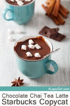 Starbucks Chocolate Chai Tea Latte Copycat Recipe |a Lazy Girl