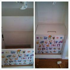 My inbuilt Toybox for nursery!