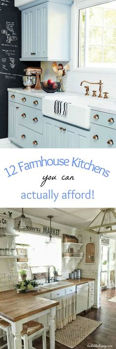 12 (Affordable!!!) Farmhouse Kitchens!