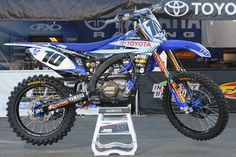 Yamaha YZ 450 Team JGRMX Toyota Justin Brayton Supercross 2013