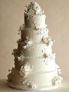Pasteles de crema de mantequilla de boda
