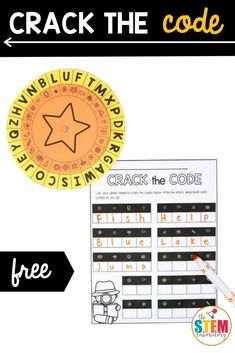 This crack the code game is the perfect combo of coding and literacy! Kids will be having so much fun deciphering the code that they won't even realize that they're working on beginning coding skills they can use to write computer codes later on. #coding #crackthecode Learning Shapes, Kids Learning Activities, Fun Learning, Kindergarten Centers, Math Centers, Stem Skills, Math Stem, Kids Writing, Elementary Teacher