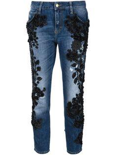 Amen embellished cropped jeans