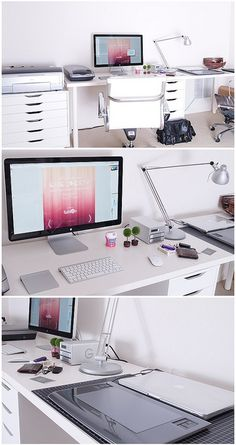 Home Office by Jacob KS Kim. I would want something like this for my interior design office!