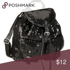Black Sequined BackPack Used a few times. Bags Backpacks