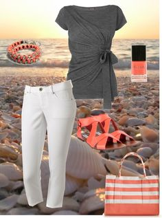 """Lazy beach day"" by tsartin001 on Polyvore"