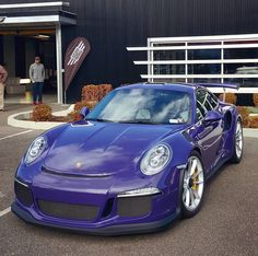 Porsche 991 GT3 RS painted in Ultraviolet Purple   Photo taken by: @farisfetyani on Instagram (@gt3rs_mrpurple on Instagram is the owner of the car)