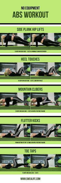 No Equipment Abs Exercises