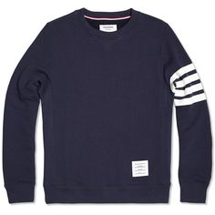 Thom Browne Crewneck Sweatshirt (Navy Cotton Terry)