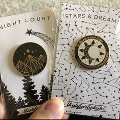 Night Court Enamel Pin (Next Shipment Date: of Jan) A Court Of Wings And Ruin, A Court Of Mist And Fury, Hanya Tattoo, Feyre And Rhysand, Hard Enamel Pin, Pin Enamel, Throne Of Glass, Sarah J Maas Books, Cool Pins