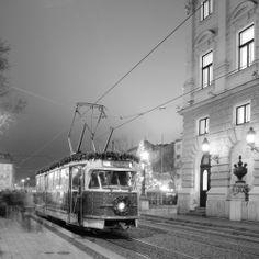 Christmas tram Tatra T2 in Bratislava