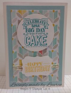 Big day birthday card