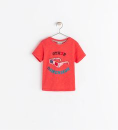 Image 1 of T-SHIRT WITH GLASSES PRINT from Zara