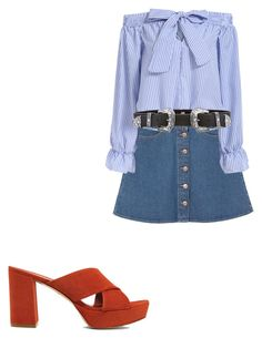 """Babe"" by mardybum ❤ liked on Polyvore featuring Monki, B-Low the Belt and Mansur Gavriel"