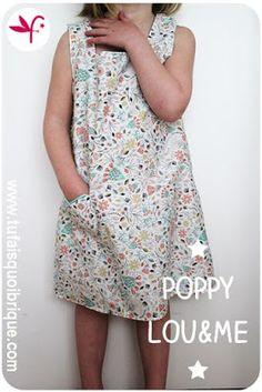 Variation autour de la robe chasuble Poppy de Lou and Me - Version Bucolique