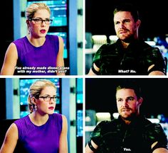 #Arrow - Oliver & Felicity #Season4 #4x06