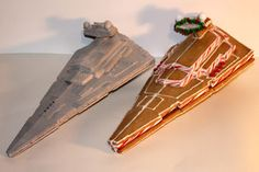 "This Instructable shows you how to make a ""Star Destroyer"" from the Star Wars saga out of gingerbread. The steps outlined below apply to practically any..."