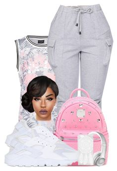 """""""♡♡♡♡♡"""" by ballislife ❤ liked on Polyvore featuring VILA, MCM, NIKE, Beats by Dr. Dre and Boohoo"""