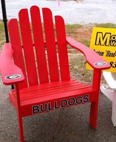 Georgia Bulldogs Adirondack Chair! Visit Morehead Woodworks On Facebook For  More Info And Other Great